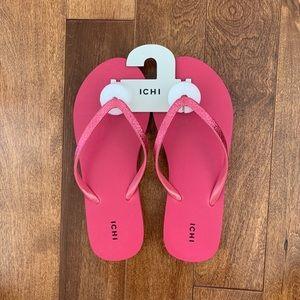 ICHI pink flip flops